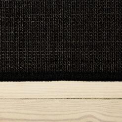 sort boucle sisal tæppe med kant